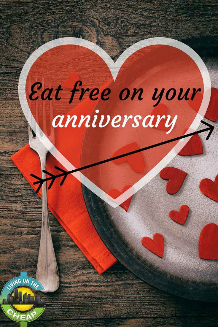 You've heard of birthday freebies and deals. But did you know that you could get discounts, deals, and freebies when you celebrate your wedding anniversary by dining out?