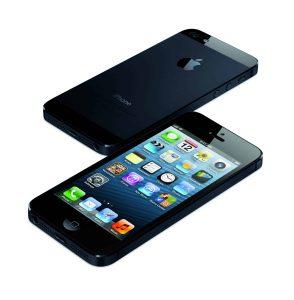 a black iPhone