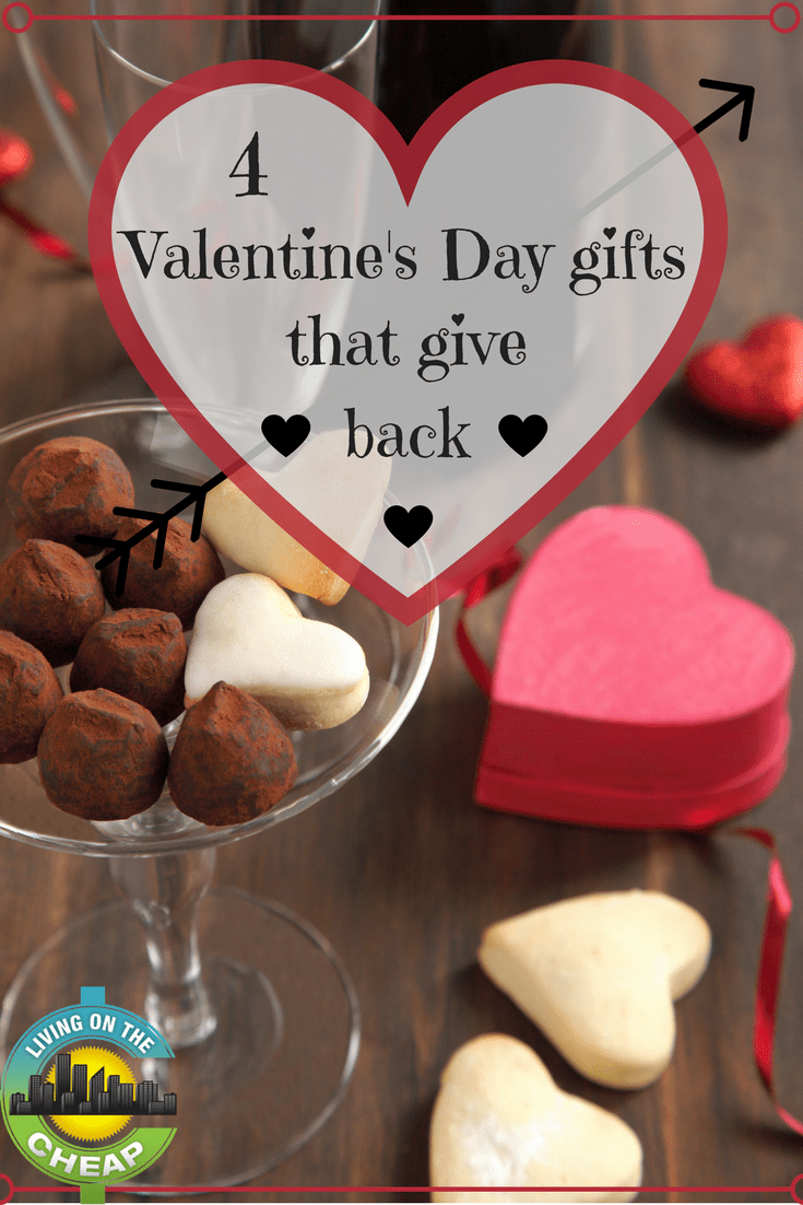 Figuring out good Valentine's day gifts can be tough, but here are 4 Valentine's Day gifts that give back
