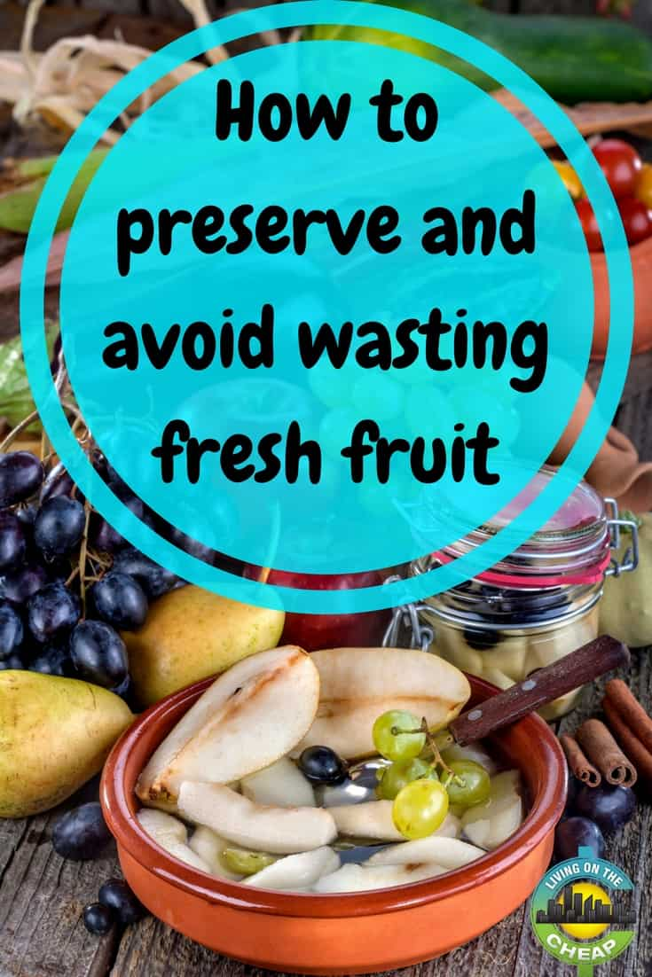 Americans waste about 25 percent of their grocery shopping dollars (or about $2,000 per year for the average family). Fresh fruits are high on the list of wasted foods. Here are some suggestions for simple ways to use up fresh fruits before they spoil.