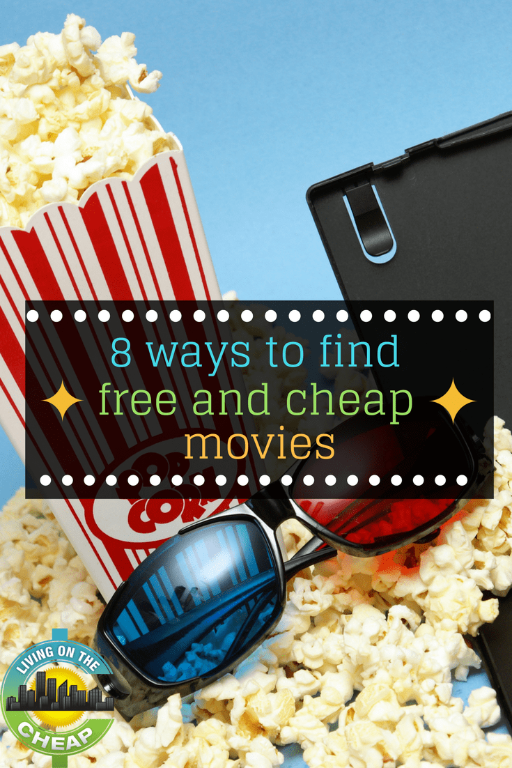 Go out to the movies for free or close to it, these 8 tips will help you find free and cheap movies. #frugalliving #movies #cheapmovies #cheapentertainment