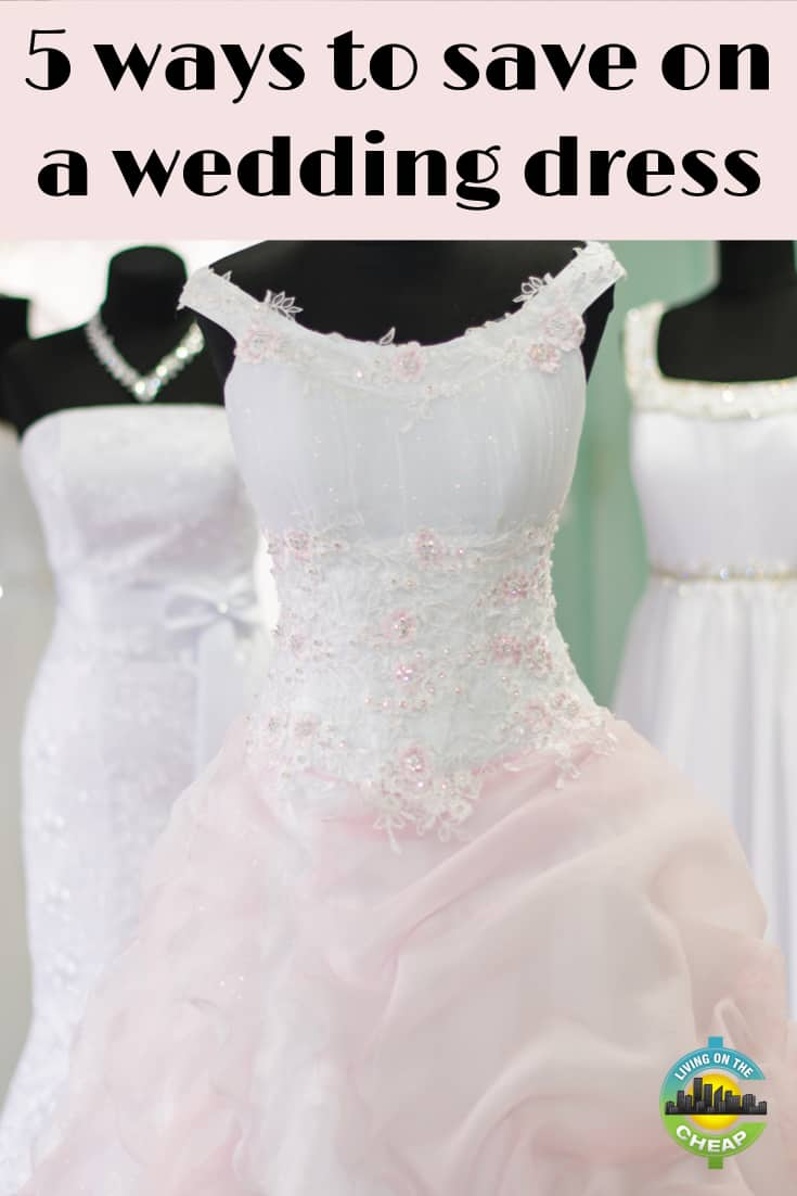Weddings are expensive, and a wedding dress is likely to cost to more than any other article of clothing you buy, but there are ways to bring costs down. Here are some ways to get a great wedding dress for less money. #wedding #dress #moneysavingtips #weddingdress