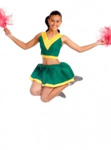 Jump for joy with this easy cheerleading costume. Photo by Stuart Miles, freedigitalphoto.net.