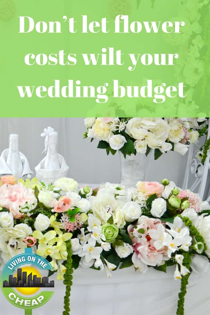 If the high prices of fresh flowers are out of line for your wedding budget, use these ideas to cut costs on flowers for the ceremony and reception.
