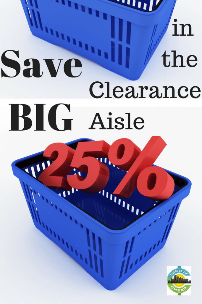 """You can always spot a true cheapskate: We make a beeline for the clearance aisle. For novices, this can be tricky, as the clearance section is not always easy to find. In most cases, it's """"hidden"""" in the store, most often in the back. However, each store is different: Some grocery stores keep it in a corner near the front; others refer to clearance items as """"Manager's Specials."""" At first, it can be intimidating. However, you can often find some amazing deals. Don't let the clutter deter you from searching for deals."""