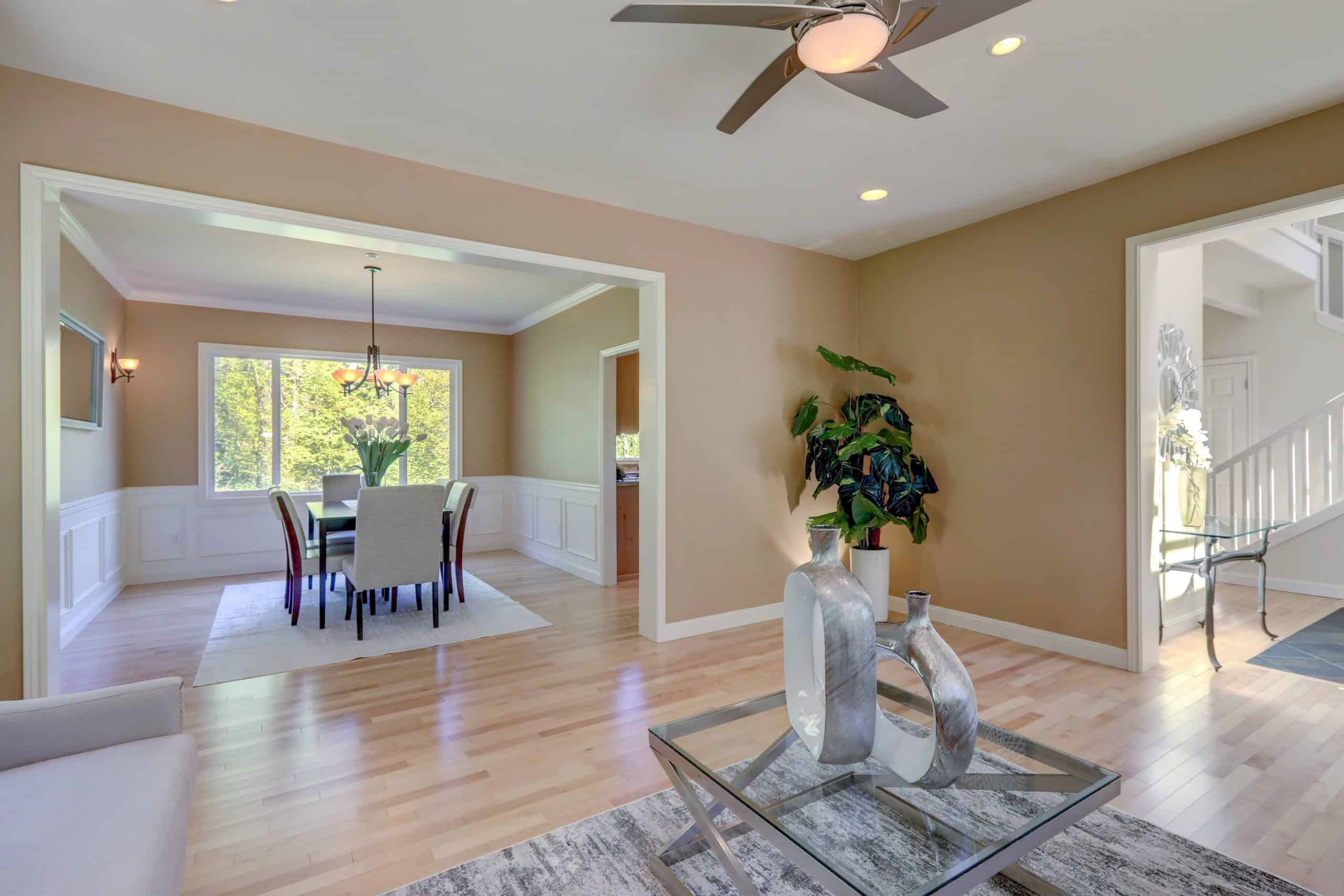 Home renovations that add value - nicely painted dining room and foyer