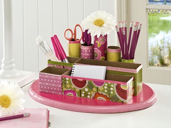 Recycled-craft-DIY-desk-organizer