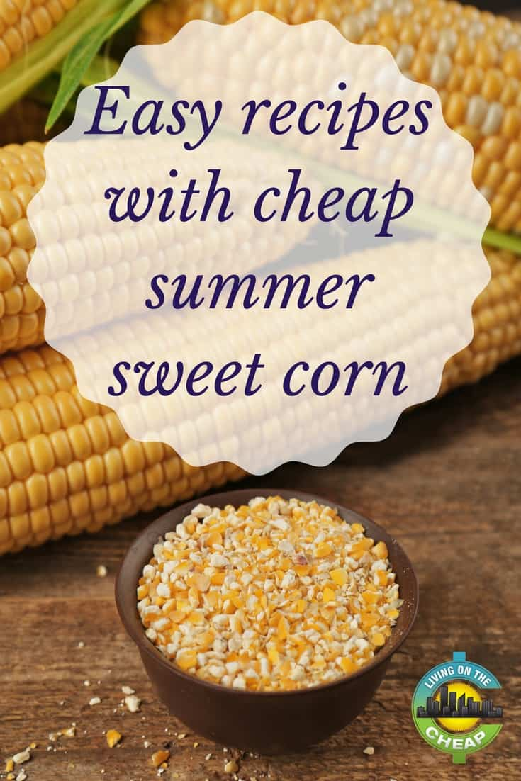 There's something about fresh, sweet, juicy corn on the cob that just screams summer. You bite into those pearl-like kernels and taste a burst of sweet juice. It just doesn't get better than this. Except it does: Sweet corn, in season, is really cheap. It starts out at two for $1, then four. Such a deal. #frugalfood #summerrecipe #recipe #food