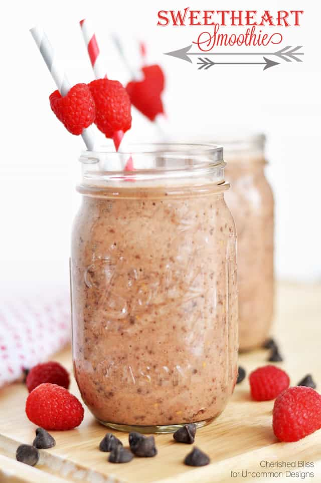DIY smoothies for less - photo of chocolate and raspberry smoothies