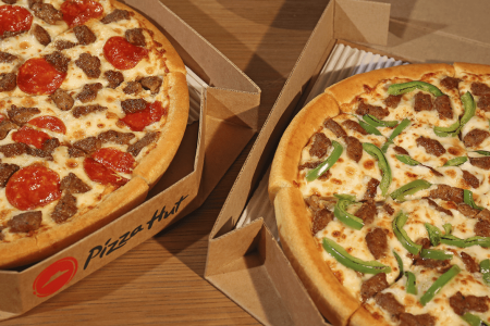 Pizza Hut deals - 2 pizzas in carryout boxes