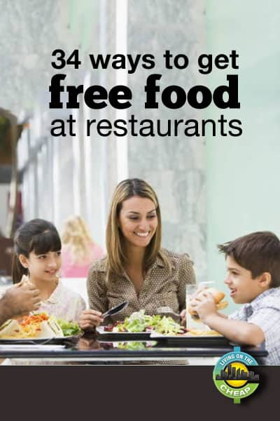 An updated listing of how to get free food at restaurants, fast-food spots, and cafes.  Links to dozens of meals, desserts, snacks and other tasty treats that, for the most part, won't cost you a cent!
