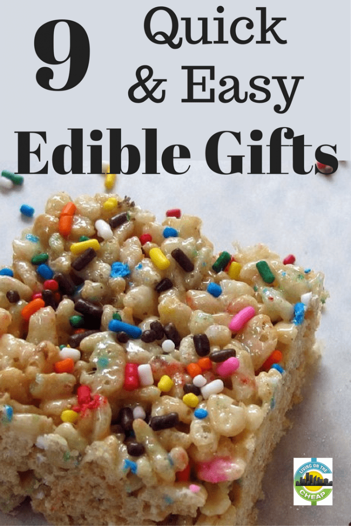 Here are some treats you can make in bulk and gave as gifts to teachers, neighbors, friends, co-workers or others on your gift list. #giftideas #giftguide