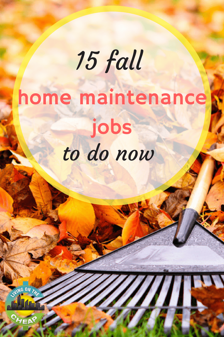 With fall in the air, your thoughts may turn to what needs to be done to your home before winter sets in. Many tasks are done much more easily when the weather is still nice. Plus, taking care of routine maintenance tasks now can save you aggravation and money down the road. Here are 15 fall home maintenance tasks to tackle now: