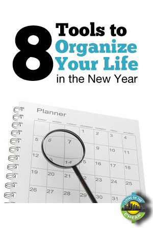 Whether you want to use paper and pencil or your laptop and smartphone, the New Year is an excellent time to start getting organized. Here are eight tools to help organize your life!