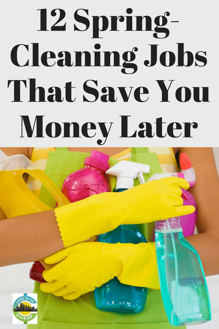 Cleaning and decluttering the home is a great prelude to a change in seasons. But spring cleaning isn't just a feel-good task. It's also a source of found money. Here are typical spring cleaning chores, how to do them, and best of all — how they can save you a few bucks. #frugalliving #savemoney #moneysavingtips #springclean #declutter