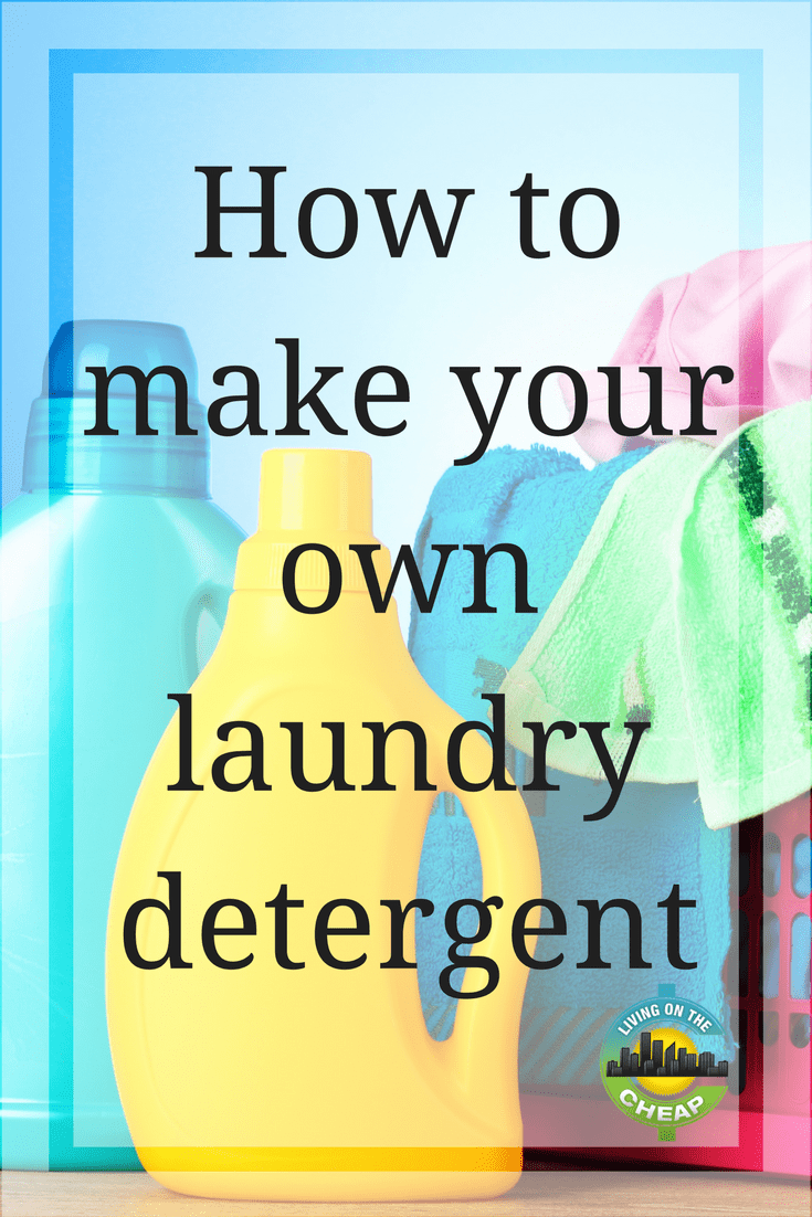 When our family started living frugally, we looked at all aspects of our daily life to find ways we could cut back. One money-saver I never considered was homemade laundry detergent because I didn't think anything but the store-bought kind worked. Boy, was I wrong. Find out how to make your own laundry detergent in this post! #frugalliving #moneysavingtips #savemoney