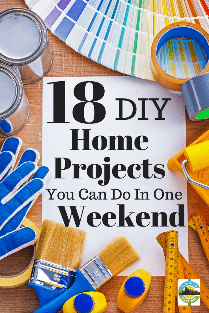 You bought a new home, and the list of projects that need to be done is larger than your bank account. Or, the home you bought years ago is looking a little dated, and you don't have the money to hire someone to give it that much-needed face-lift.
