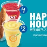 Dairy Queen's weekday happy hour specials