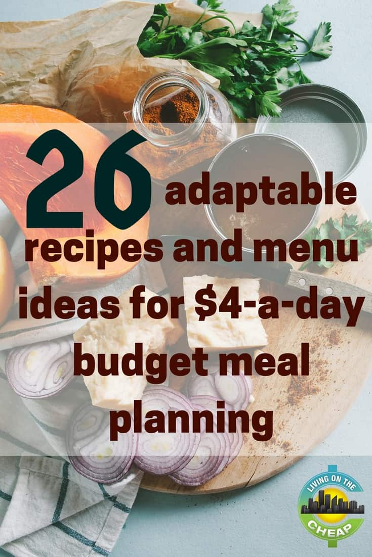 My experiment with a $4-a-day budget that began a few months ago has become a welcome and permanent adjustment to my menu planning and grocery shopping routine. It has saved not only money, but my time as well as some of my sanity. #foodbudget #mealplanning #frugalliving #moneysavingtips