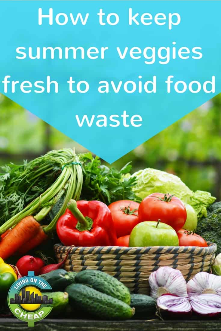 Food waste by the average American family is estimated at 25 percent of your grocery shopping dollars -- or a little more than $2,000 a year. Fresh vegetables top the list. If you have a better use for $2,000 this year, please read on for simple ways to store and preserve fresh vegetables before they become food waste in the trash or compost bin. Listed below are storage recommendations for popular seasonal vegetables. #summer #summerveggies #moneysavingtips