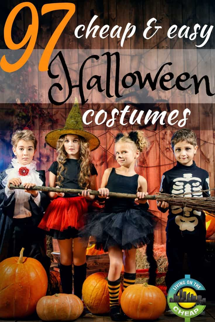 Halloween will be here before you know it. Save your money for the candy you'll be giving out to trick-or-treaters by skipping the high-priced, mass-produced, store-bought costumes this year. #halloween #halloweencostumes #costumeideas