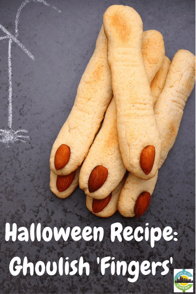 These creepy fingers are the perfect centerpiece for a Halloween party, but they are also tasty. The crisp, almond-flavored shortbread tastes even better after being stored, so make these ahead of time. Check out the post for the recipe!