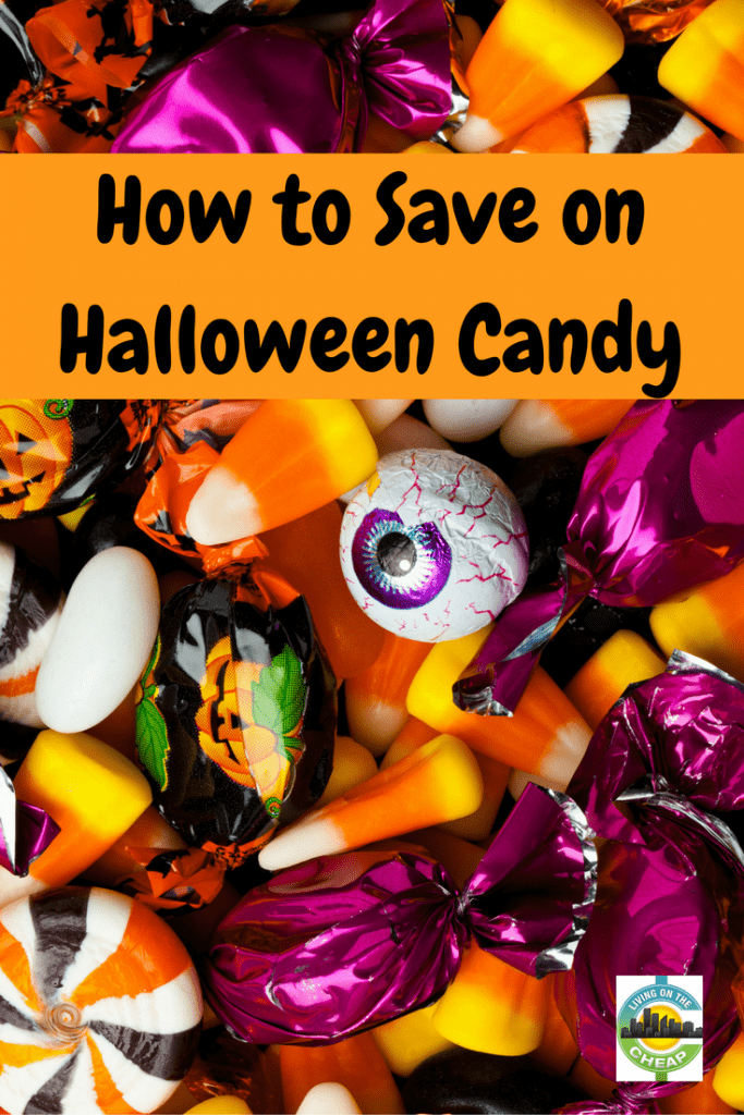 It's officially time to start building your stockpile of candy for the annual parade of trick-or-treaters on October 31. Check out this post for 8 ways to save on Halloween candy this year. #halloweencandy #moneysavingtips #halloween