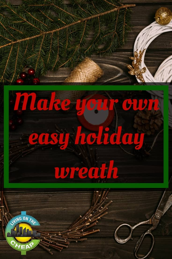 Looking to decorate for the holidays? Find out how to make your own easy holiday wreath!