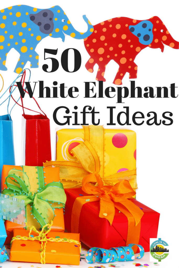 Here is a list of 50 perfect, or not-so-perfect but funny, white elephant gift ideas geared for specific groups.  Most of these are available through Amazon, so shipping is quick!