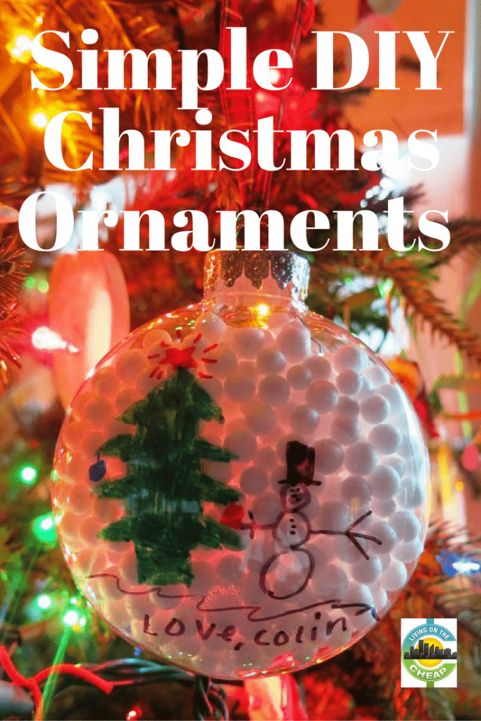 Every year throughout December our family does a Christmas countdown calendar. It's full of activities like making cookies with Mom, swimming with Daddy, driving around town looking at Christmas lights, and 21 more. One of those activities is always making homemade ornaments for our tree and as gifts. It's a great activity and tons of fun! #holidaydecor #diydecor #christmastraditions