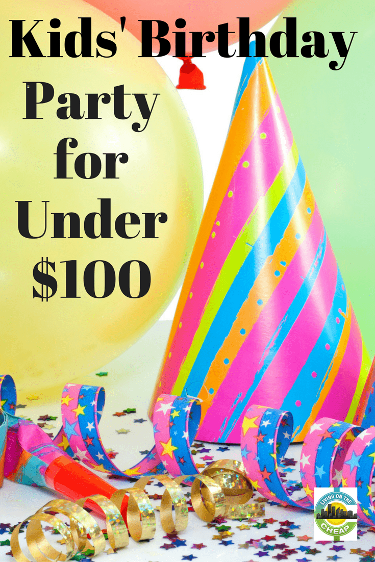 But it's simple to throw a child's party on your own without spending a small fortune. A party your child and guests will love can be easily pulled together for under $100; how much under depends on your specific needs.