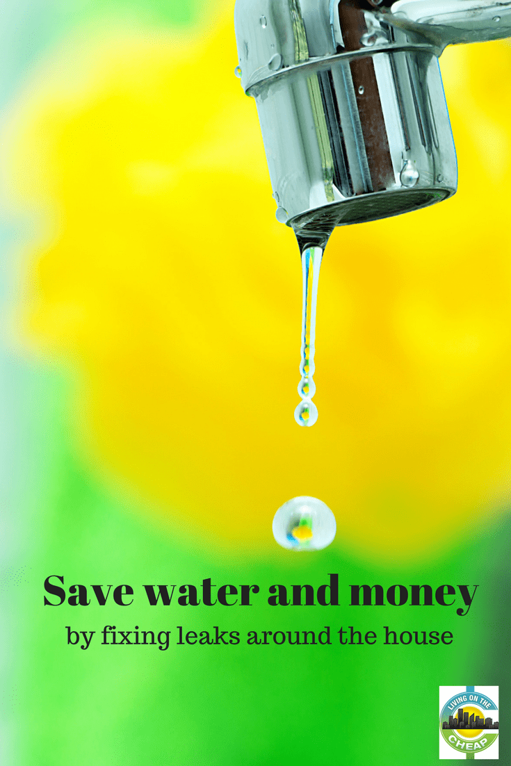 """Earth may be known as the """"water planet"""" but even though about 70 percent of its surface is covered by water, less than one percent is available for human use according to the Environmental Protection Agency (EPA). Water supplies are finite, and we can all help protect this critical and precious resource-- while saving money, too. Learn how you can save money by fixing leaks around the house! #savemoney #moneysavingtips #diy #home #homerepair"""