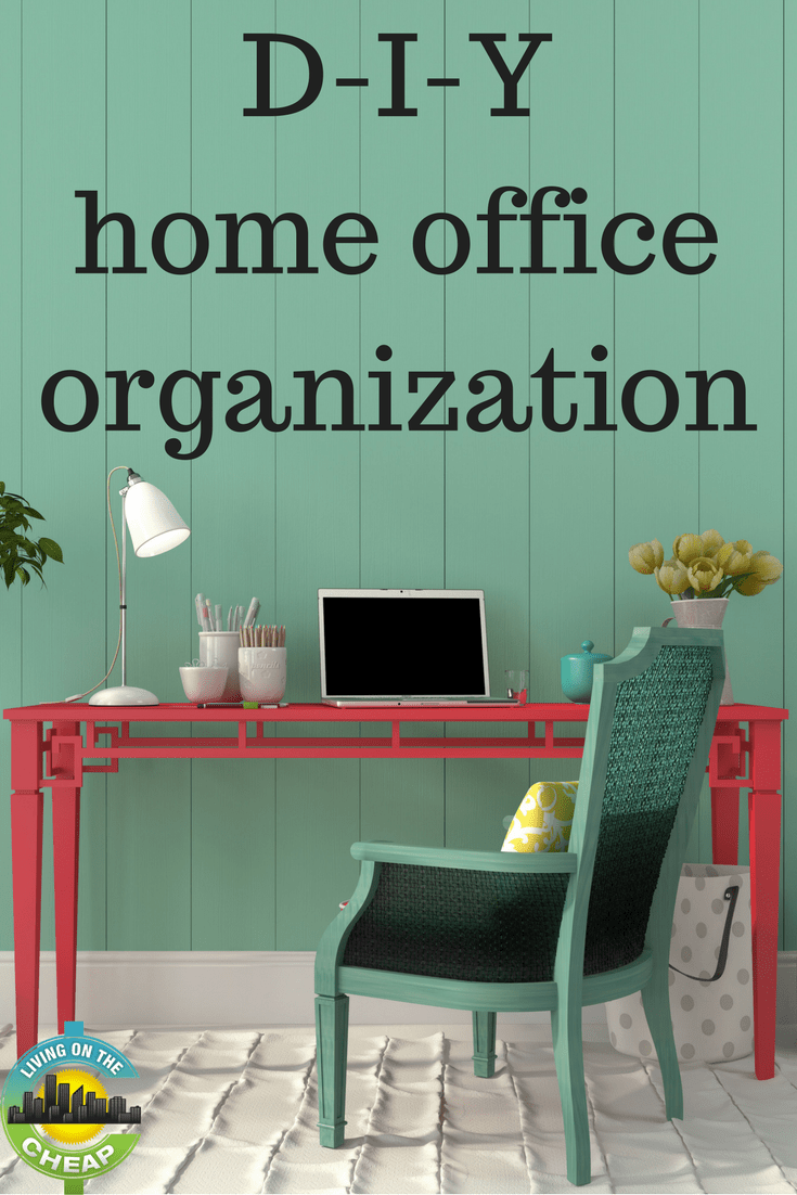 When it comes to office organization, it's the little things that need to be corralled. The loose notes, the paper, pens, rubber bands, etc.  Once you have a place to put all that stuff, you'll notice your work area looking cleaner and easier to use. Check out this post for easy DIY organization projects.