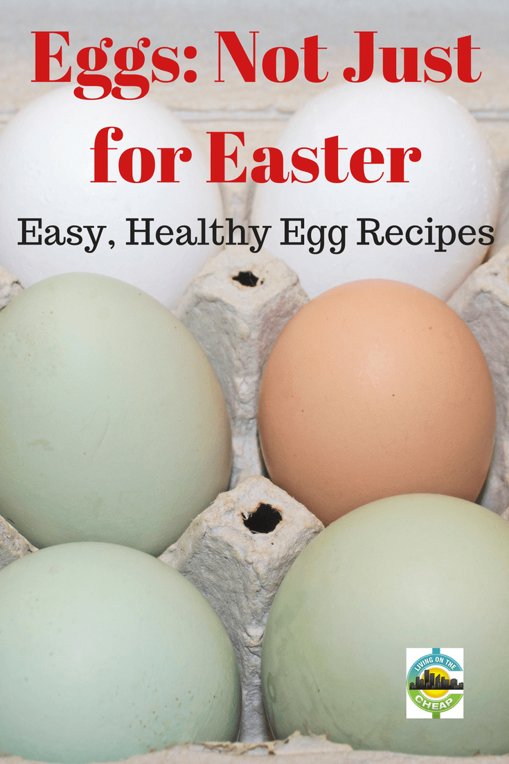 Eggs and Easter go hand in hand, but there's more to these tiny bundles of protein-packed goodness than you might think. They are not only great for easter but for your body and budget. They always make an inexpensive breakfast and are healthy too! Check out all the ways eggs are good for you. #eggs #food #healthy