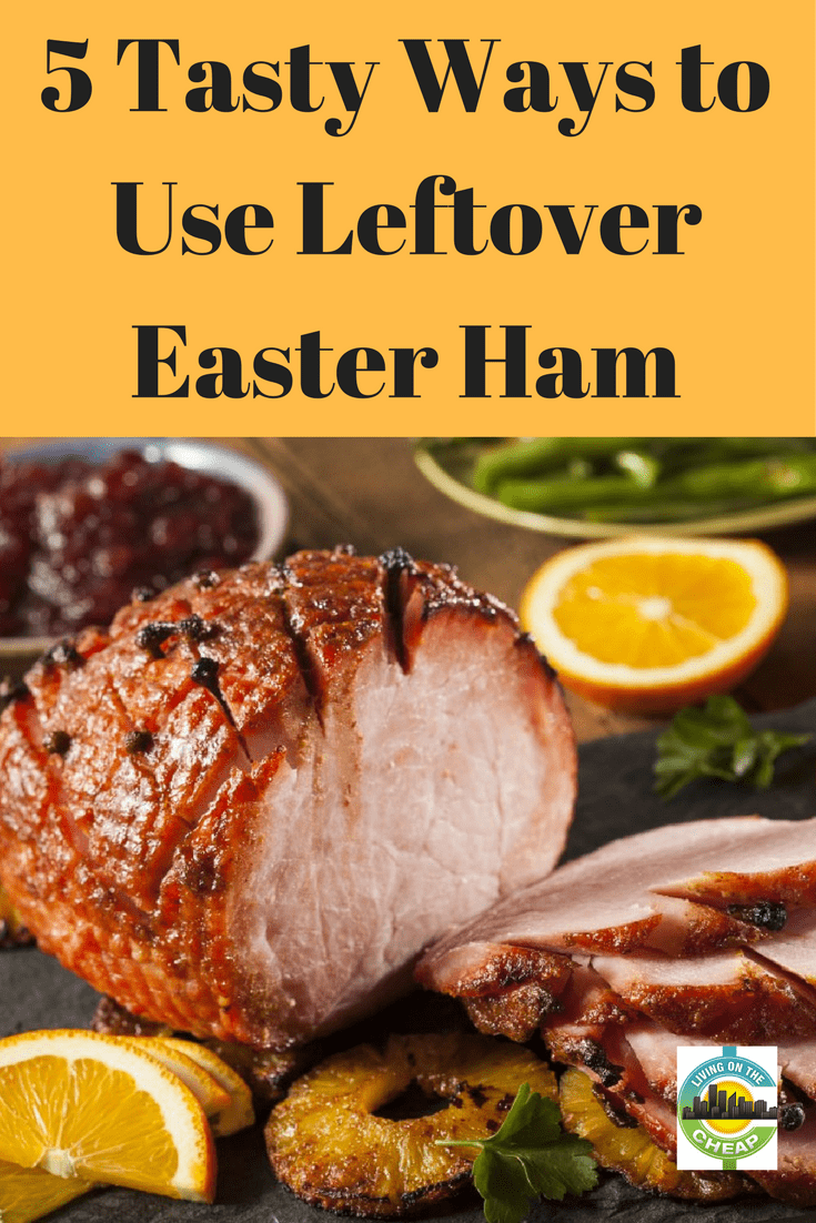 You paid a lot for that Easter ham. Don't waste the leftovers -- or worse yet, ruin them by constant reheating. There are lots of uses for leftover ham besides ham sandwiches. We have some thrifty ideas for making those leftovers into yummy new meals. #easter #frugalliving #leftovers