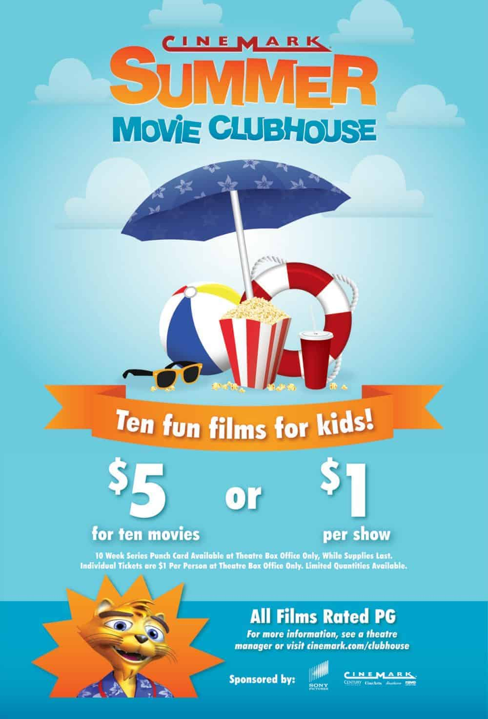 Summer Movie Clubhouse at Cinemark: 10 kid flicks for $5 - Living On
