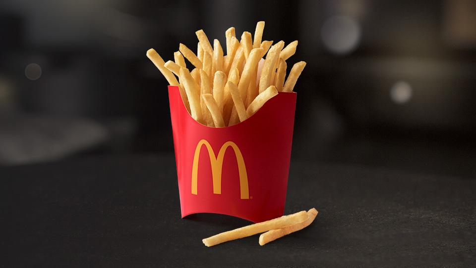 free fries at McDonald's every friday via the app