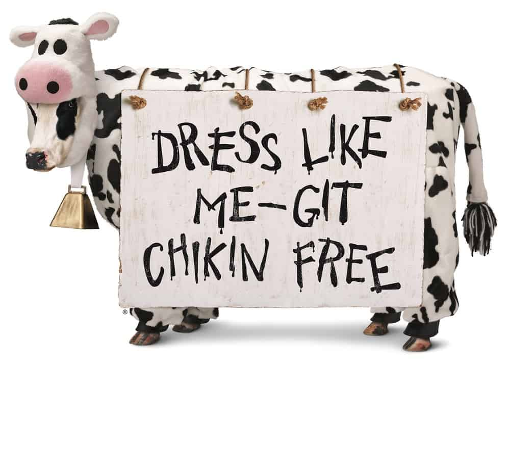 graphic relating to Chick Fil a Cow Appreciation Day Printable identified as Moo! Gown including a cow for cost-free entrée at Chick-fil-A