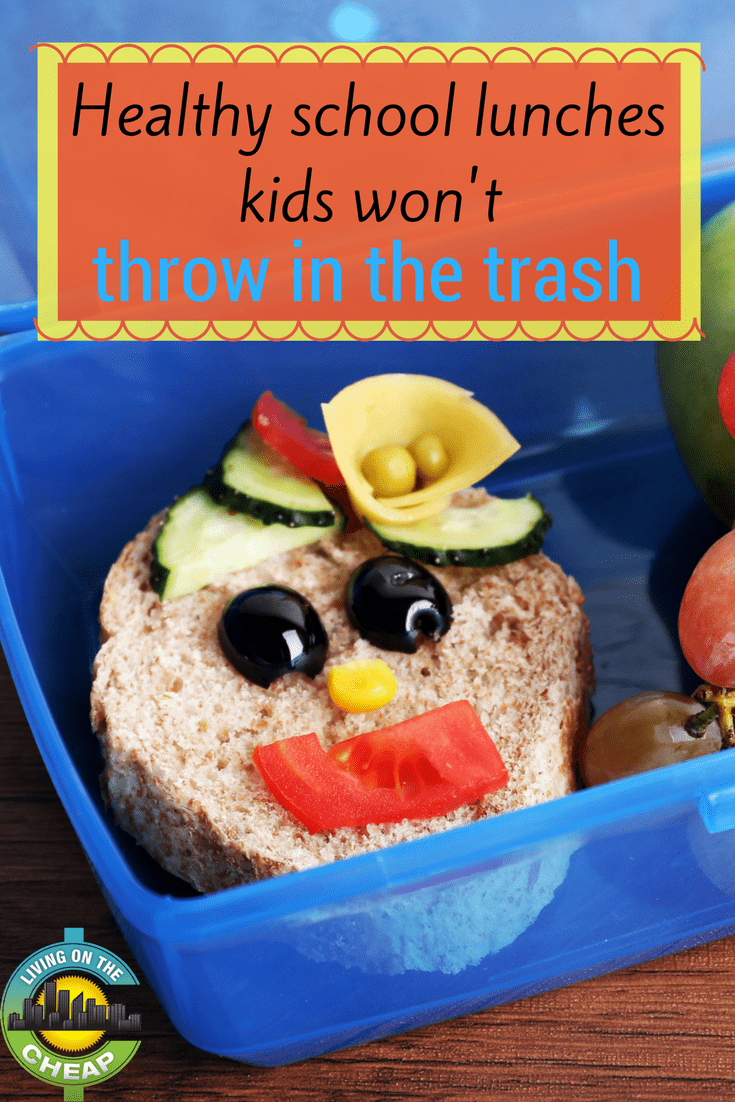Getting kids to eat healthy can be tough, but here are some healthy school lunches that you're kids won't throw away. #kidslunch #packedlunch #lunchideas #healthylunchideas