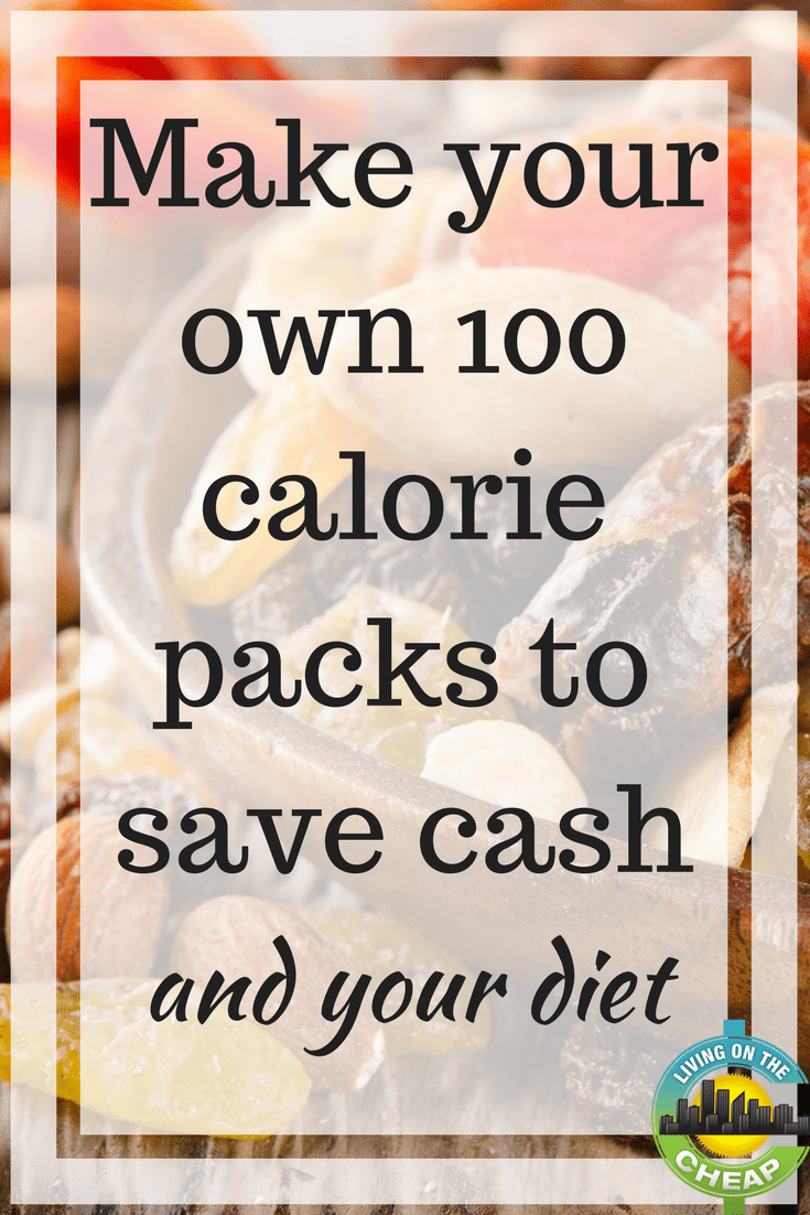 While those calorie-controlled snack bags can be good for your waistline, they aren't so good for your wallet. A pre-packaged 100-calorie pack of dry roasted almonds (bought in a multi-pack set) is roughly 61 cents, but a DIY 100-calorie pack is about 37 cents. Pretzels drop from 43 cents for prepacked to 18 cents for DIY, and cookies from 66 cents to 40 cents. That's an average savings of 25 cents per pack, which if you eat one a day, can add up to a savings of nearly $100 a year.