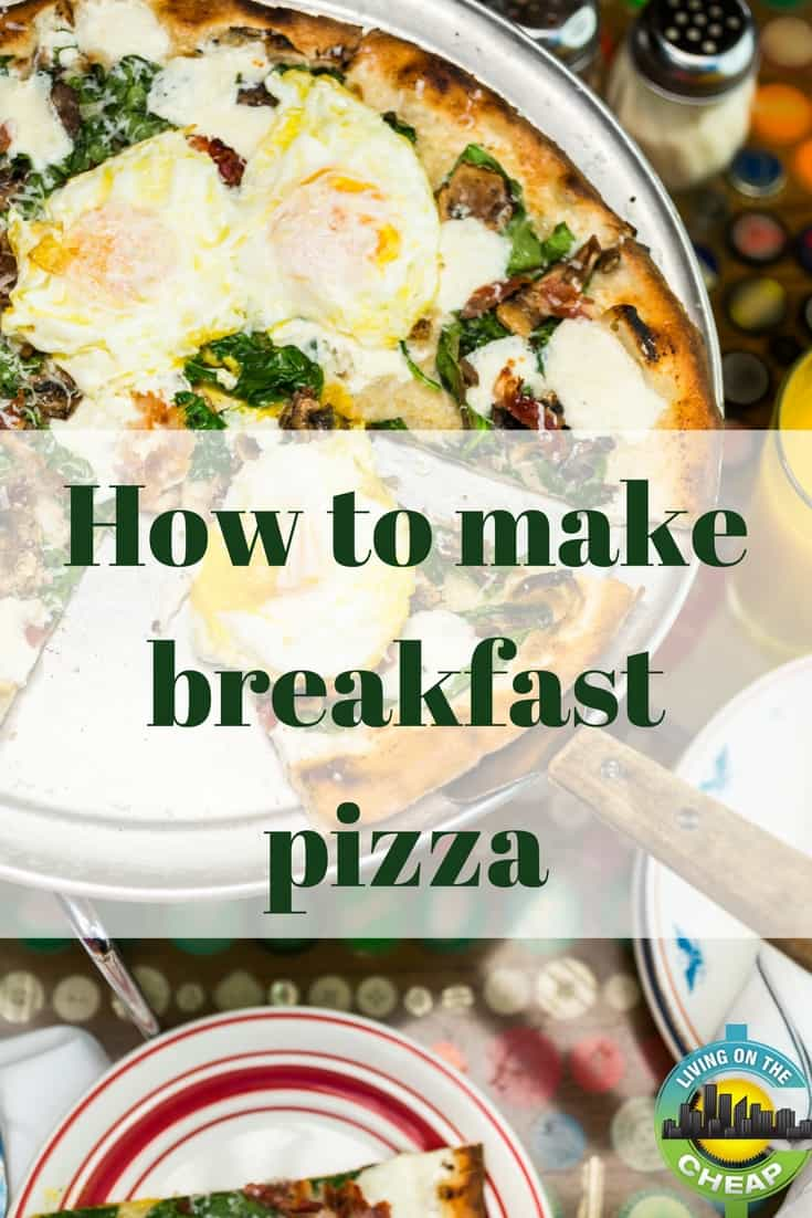 Eating out can be expensive, but so many restaurant quality meals can be made at home. Not only will you spend less money, but you'll also be using fresh ingredients from your own kitchen. Often, the recipe will be as close to an exact match. Check out this recipe for Wolfgang Puck Express' breakfast pizza. #breakfast #recipe #breakfastideas