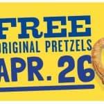 Get free Original Pretzel at Wetzel's Pretzels