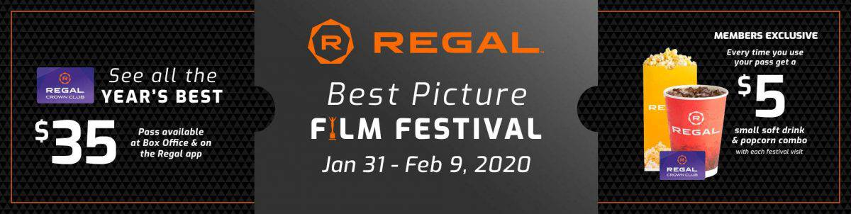 Ticket stub poster for regal best picture film festival