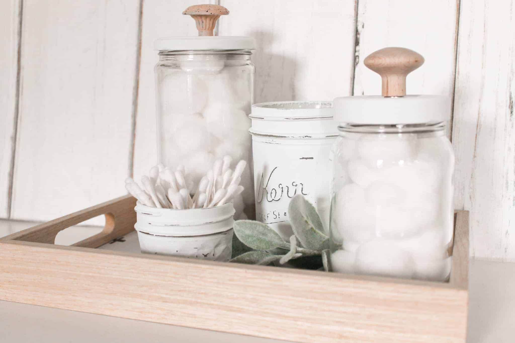 Redecorate with items you own - photo of upcycled glass jars