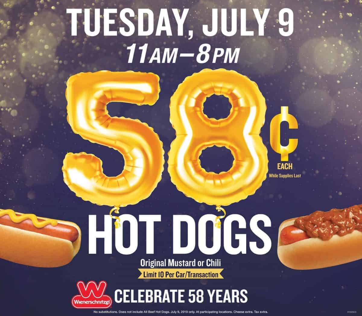 photograph regarding Wienerschnitzel Printable Coupons titled Wienerschnitzel: Just take chili or mustard pet for 58 cents