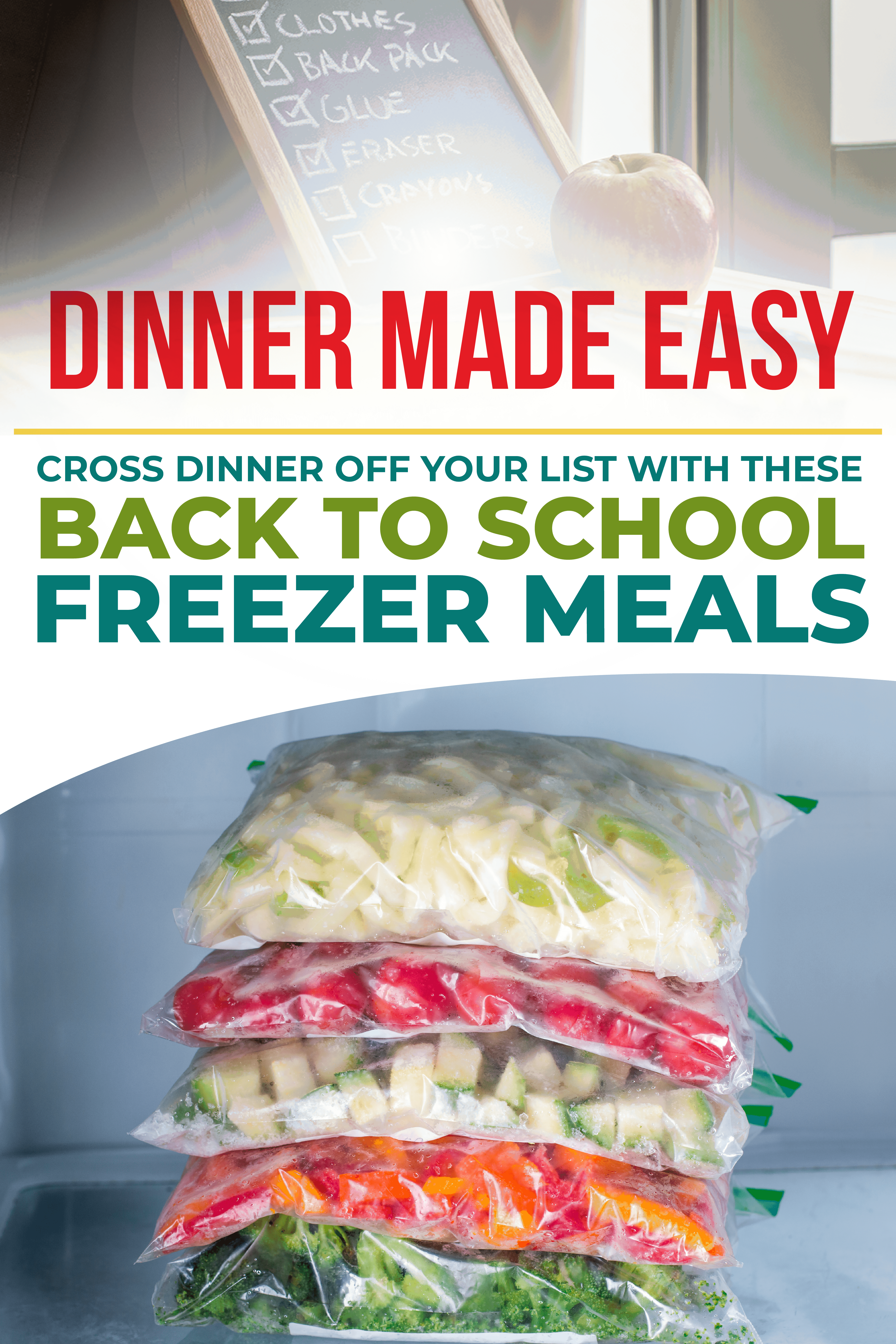 Years of dealing with the stress of getting home from work late and scrambling to thaw something out that is nutritious and delicious for the family prompted me to try something new. I decided on Freezer Meal Planning to see how much time, stress, and money it would actually save me. #freezermeals #mealplanning #mealprep #backtoschool