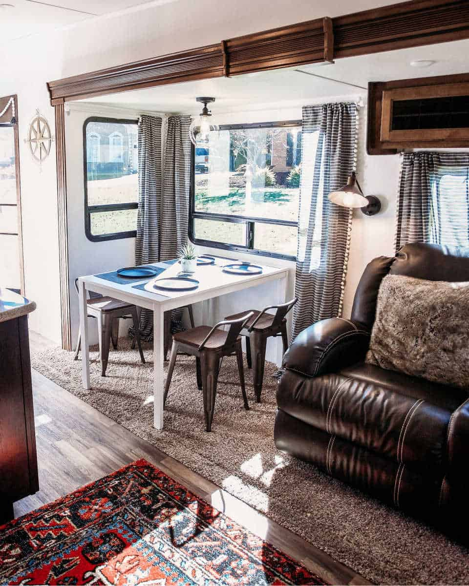 Interior of an RV living room