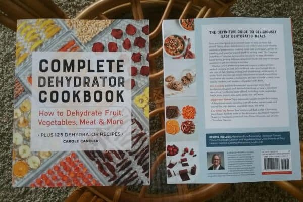 Complete Dehydrator Cookbook front and back covers