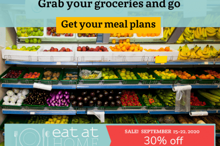 Eat at Home meal plan on sale