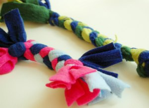 Easy braided-rope dog toys